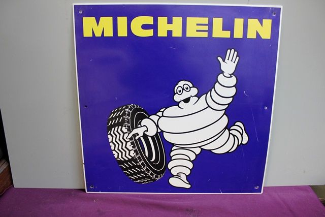 Genuine Michelin Bibendum Figure Tin Sign