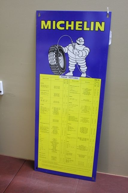 Genuine Michelin Tin Tyre Chart