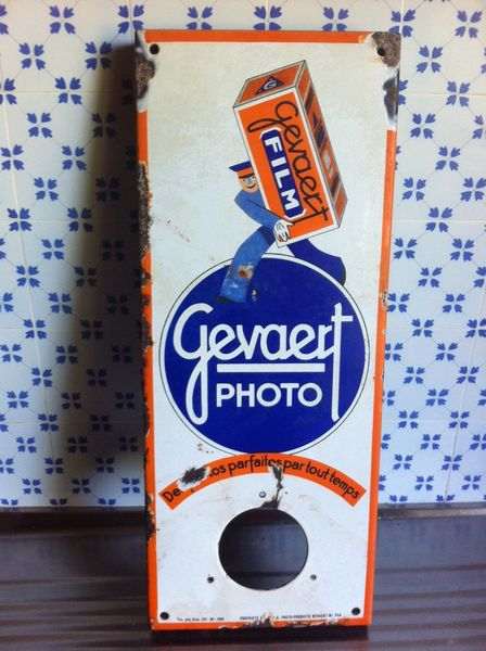 Gevaert Photo Enamel Sign