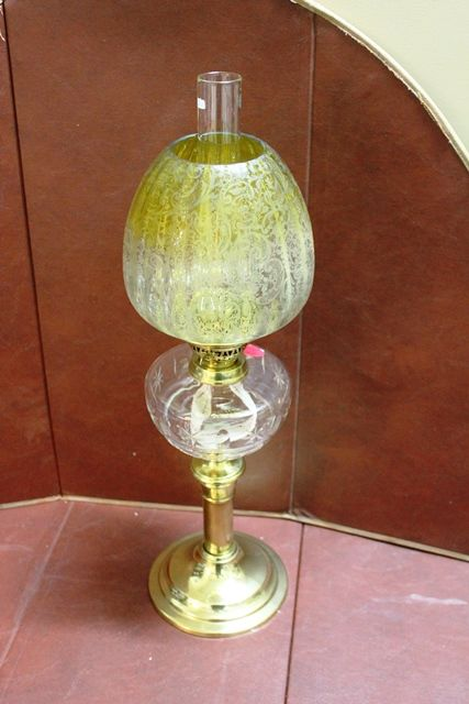 Glass Double Burner Oil Lamp