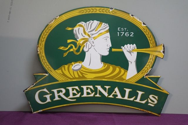 Greenalls Enamel Sign