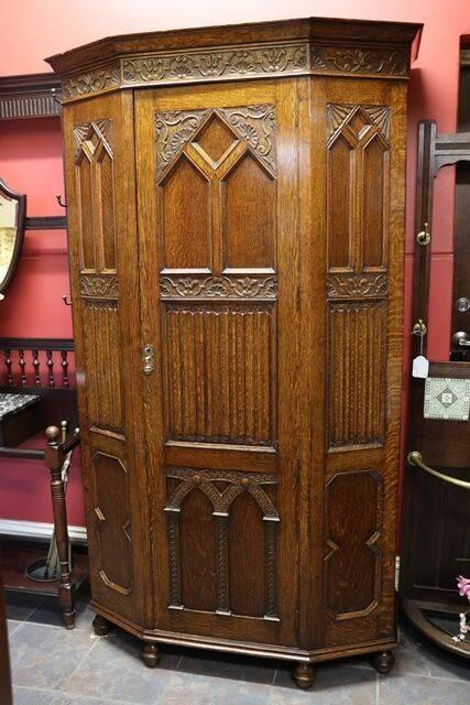 Hall Cabinet Oak Early 20th Century