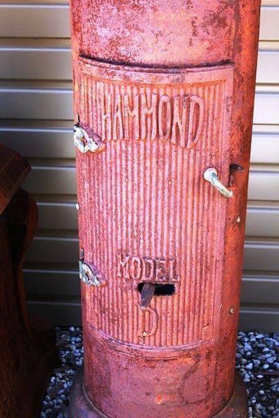 Hammond D Manual Unrestored Petrol Pump
