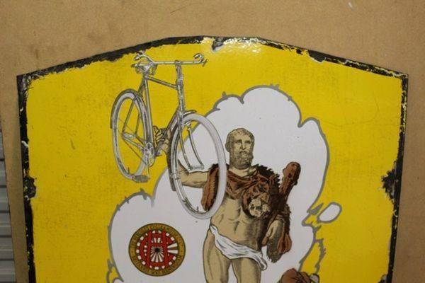 Hercules Cycles Enamel Sign