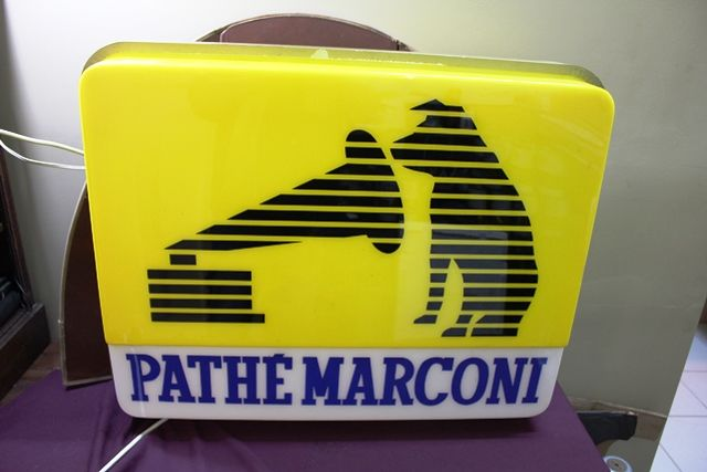 His Masters Voice Marconi Double Sided Light Box