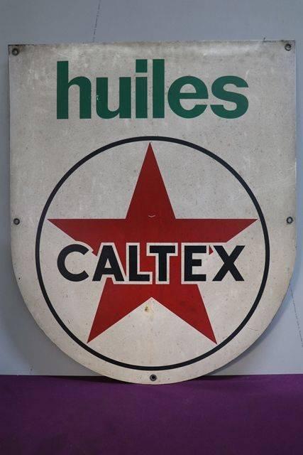 Huiles Caltex Aluminium Advertising Sign