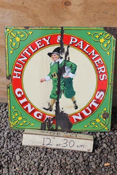 Huntley And Palmers Biscuit Enamel Sign