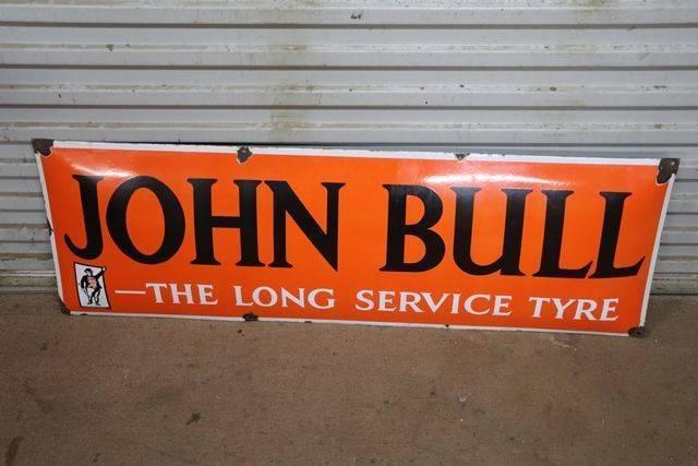John Bull The Long Service Tyre Enamel Sign