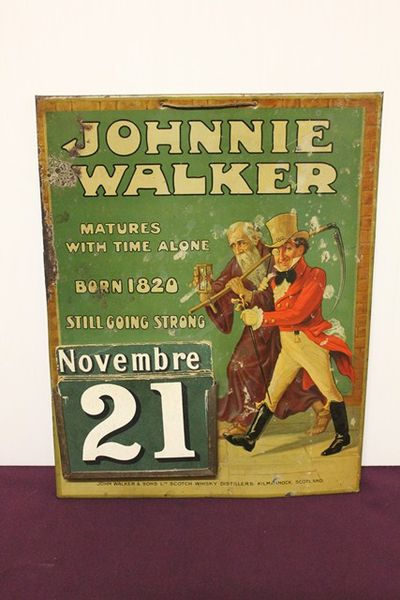 Johnnie Walker Pub Advertising Calander