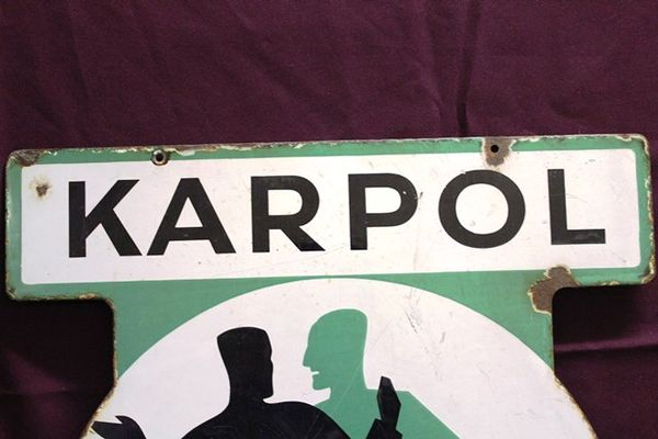 Karpol Pictorial Enamel Sign