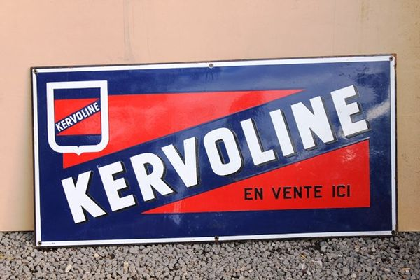 Kervoline Enamel Sign
