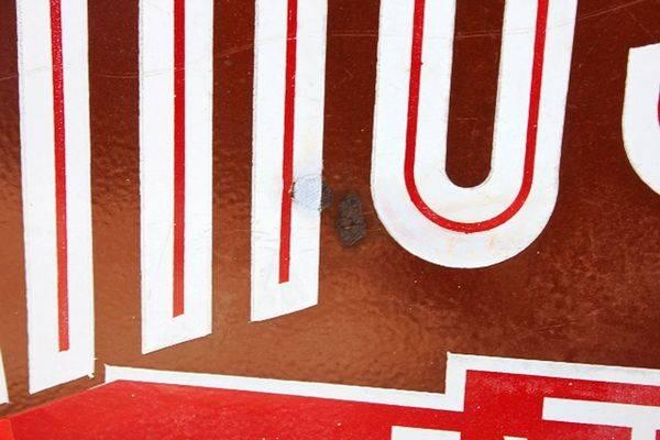 Kings Lube Extra Motor Oils Enamel Sign
