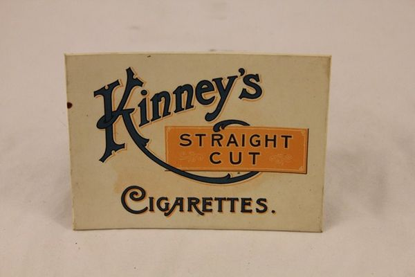 Kinneys Straight Cut Cigarettes Ad Card