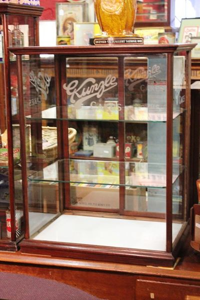 Kunzle Cakes Advertising Display Cabinet With Etched Glass