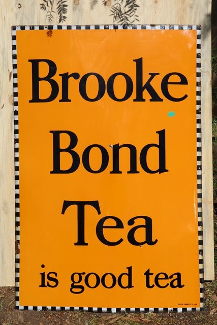 Large Brooke Bond Tea Enamel Advertising Sign