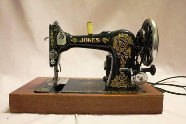 Boxed Jones Electric Sewing Machine XXXX Antique Complex Best Jones Sewing Machine