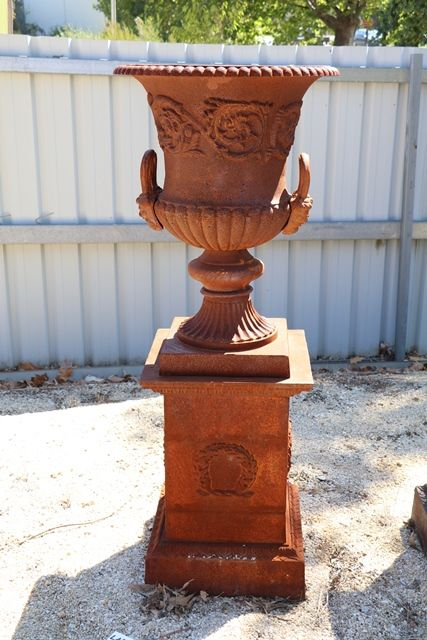Large Dorchester Cast Iron Urn And Base