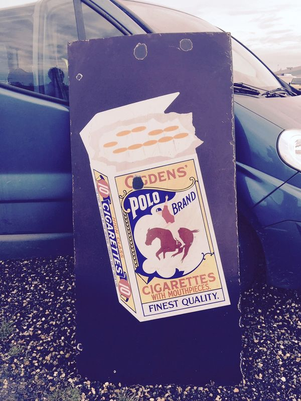 Large Early Ogdens Polo Pictorial Enamel Sign