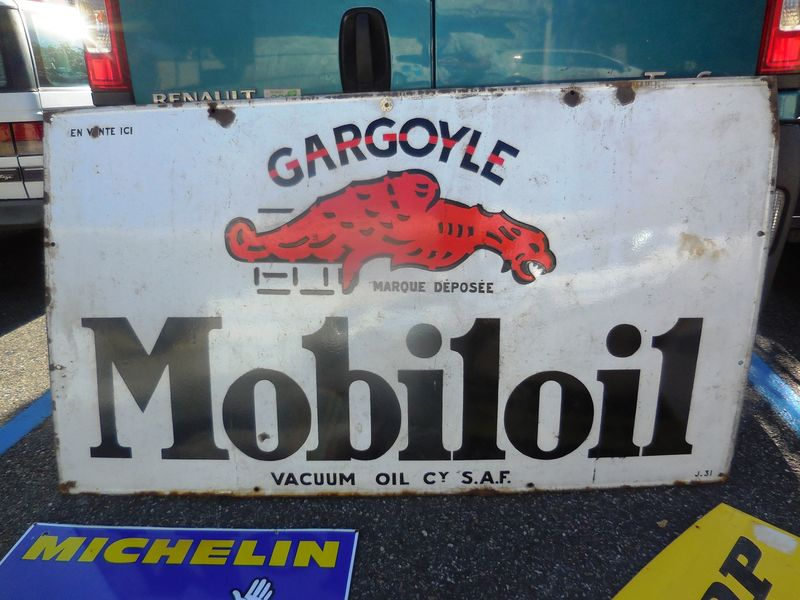 Large Gargoyle Mobiloil Enamel Sign
