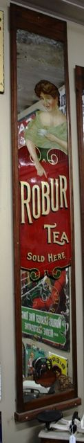 Large Robur Tea Advertising Mirror