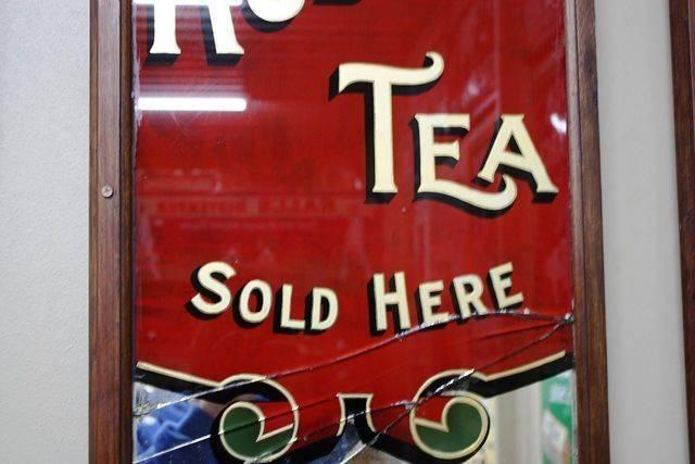 Large Robur Tea Advertising Mirror
