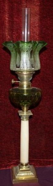 Late19th Century Single Burner French Oil Lamp