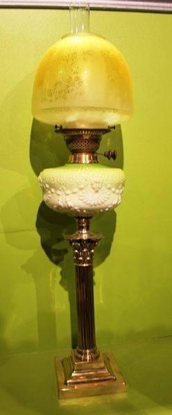 Late 19th Century Double Burner Oil Lamp