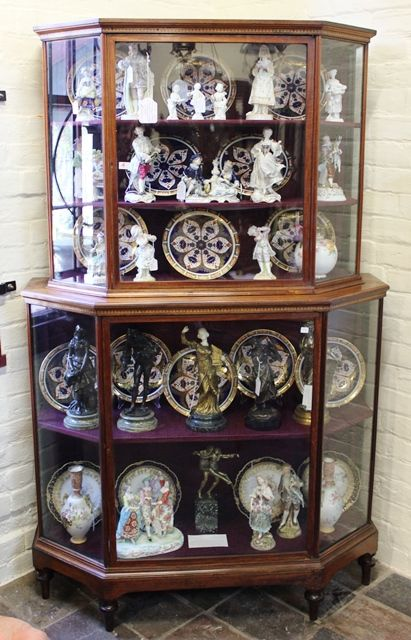 Late 19th Century Inlaid Shop Display Cabinet