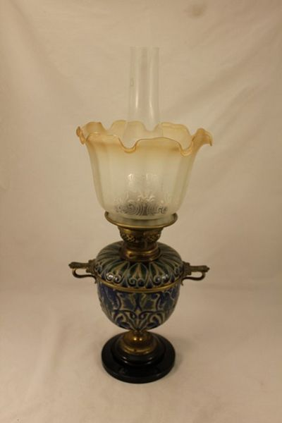 Late 19th Century Royal Doulton Oil Lamp