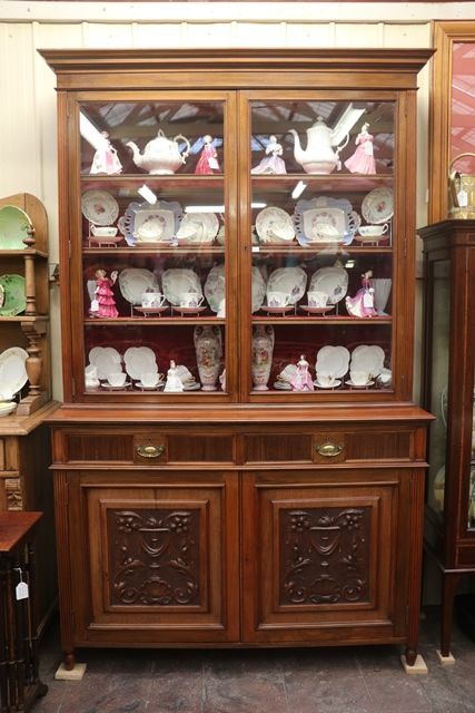 Late Vic Maples + Co Walnut Bookcase
