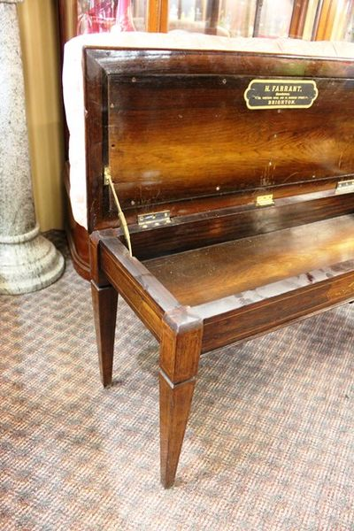 Late Victorian Duet Piano Stool C1895