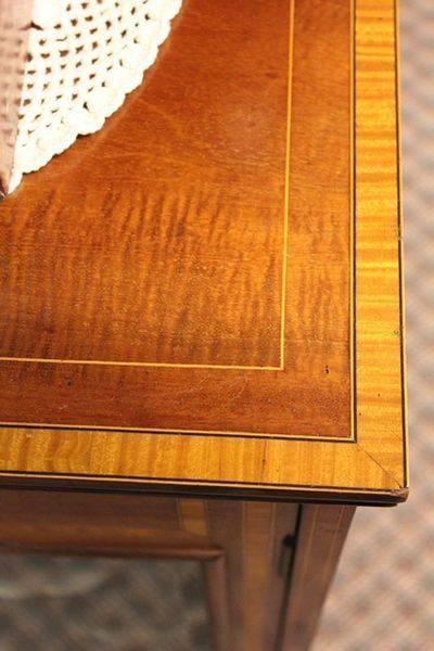 Late Victorian Inlayed Mahogany Music Cabinet C1900