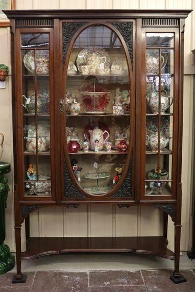 Late Victorian Mahogany Display Cabinet English C1900