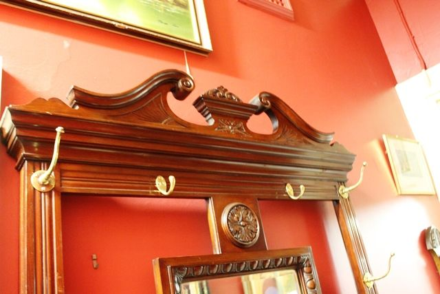 Late Victorian Mirror Backed Walnut Hallstand