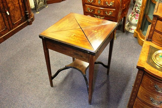 Letter Inlaid Card Table