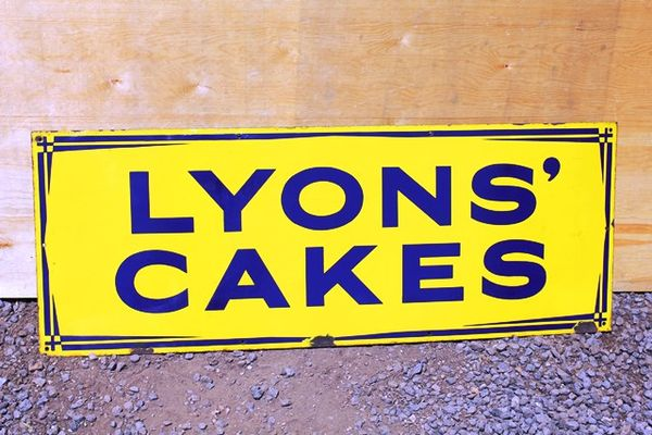 Lyons Cakes Enamel Advertising Sign