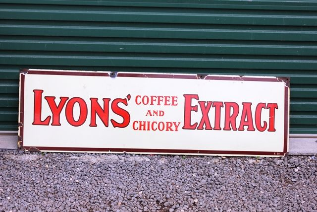Lyons Extract Enamel Advertising Sign