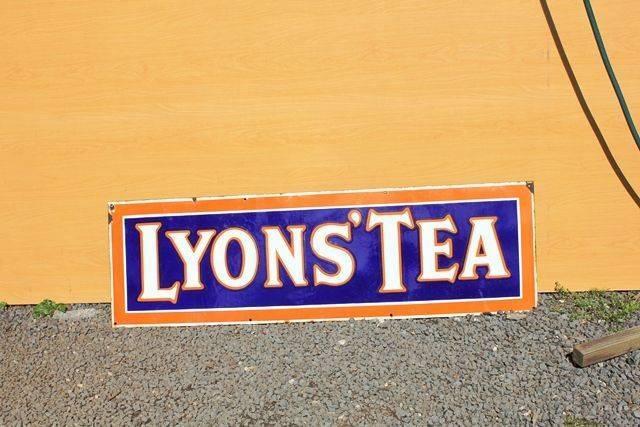 Lyons Tea Enamel Advertising Sign