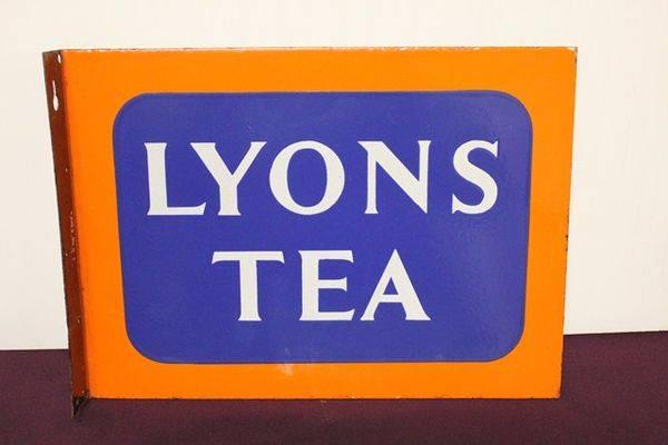 Lyons Tea Enamel Post Mount