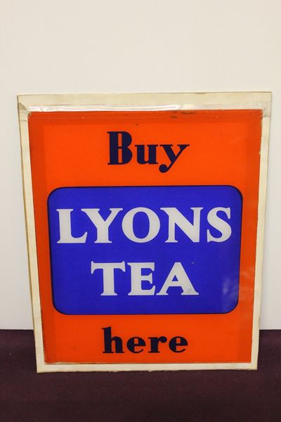 Lyons Tea Glass Panel