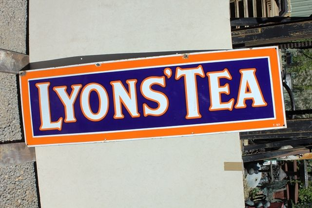 Lyons Tea Strip Enamel Advertising Sign
