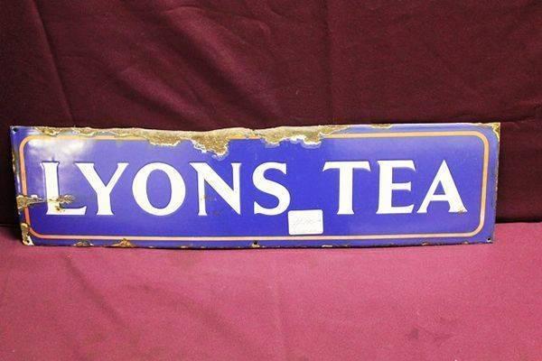 Lyonsand96s Tea Enamel Advertising Sign