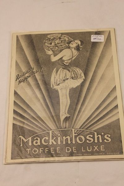 Mackintoshs Toffee De Luxe Ad Card
