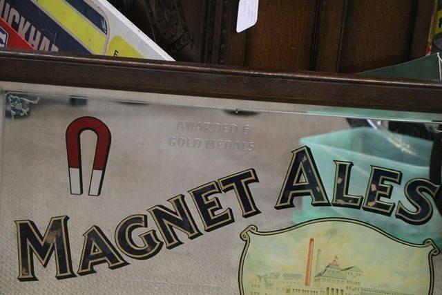 Magnet Ales Mirror Wooden Framed Sign
