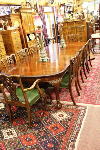 Mahogany 3 leaf extension table