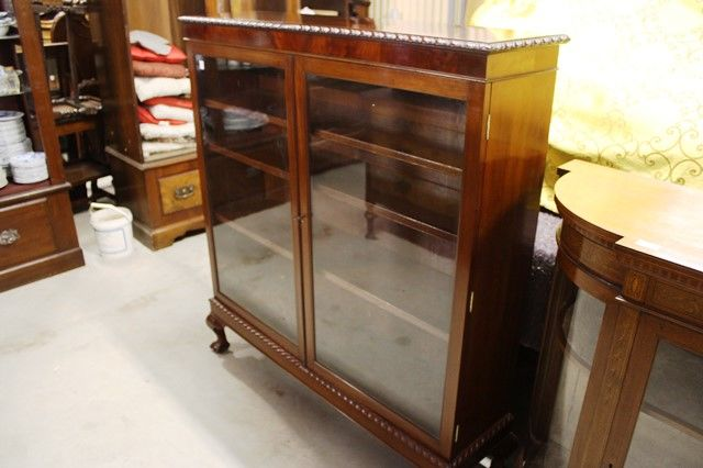 Mahogany Bookcase Two Door
