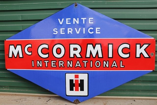 Mc Cormick International Enamel Advertising Sign