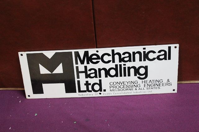 Mechanical Handling Ltd Enamel Advertising Sign
