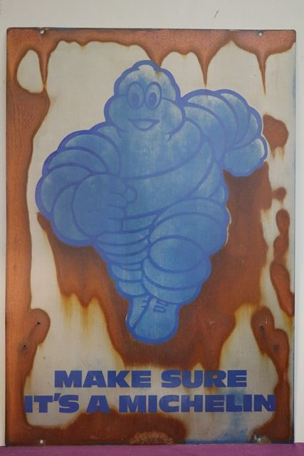 Michelin Figouge Double Sided Advertising Sign