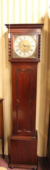 Mid 20th Century Mahogany Grandmother Clock
